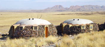 Lodge facing the valley. And the desert of Namibia Stock Photography