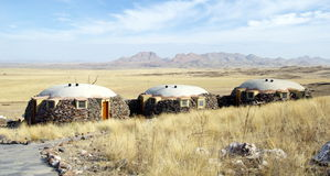 Lodge facing the valley. And the desert of Namibia Stock Photos