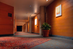 Lodge hallway #6. Hotel or lodge hallway with persian rugs HDR #6 Royalty Free Stock Photo