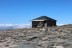 Lodge on the highest point of Serra da Estrela Stock Images