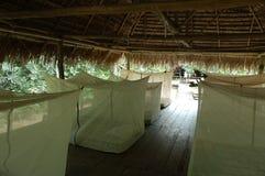 Lodge house, Amazon. Lodge house in Cuyabeno National Reserve, Ecuador Stock Image