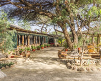 Lodge in kenya Royalty Free Stock Images