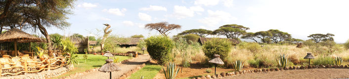 Lodge in kenya Stock Photo