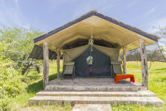 Lodge in kenya. Safari camp in Kenya . Tent for dwelling Stock Photos