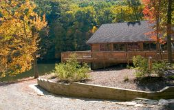 Lodge at the lake Stock Image