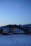 "The Lodge ""Rila Lakes"" at dawn stock images"