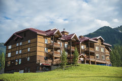Lodge in ski resort Royalty Free Stock Images