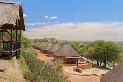 Tourism - small lodges in Willem Pretorius game reserve in South Africa. Lodge in Willem Pretorius game reserve in South Africa stock photo