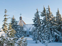 Lodge in the winter Stock Images
