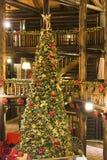 Lodge Xmas Tree Royalty Free Stock Photos