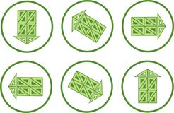 Lodges - arrows icons. Royalty Free Stock Photography