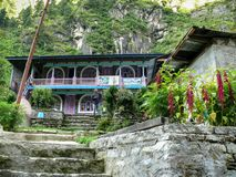 Lodges in Dharapani, Nepal Royalty Free Stock Photos