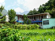 Lodges in Ghermu - Annapurna circuit - Nepal Royalty Free Stock Photography