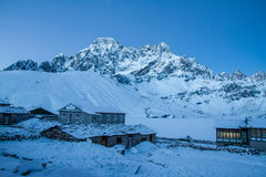 Lodges at Gokyo lake Royalty Free Stock Image