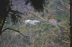 Lodges in mountains Stock Photo