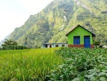 Lodges near Tatopani, Nepal Royalty Free Stock Photography