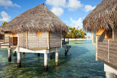 Lodges over the ocean Royalty Free Stock Image