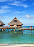 Lodges  over the sea Royalty Free Stock Photography