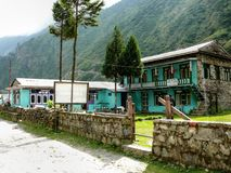 Lodges in Tal village - Nepal Stock Images