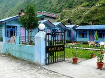 Lodges in Tal village - Nepal Stock Photo
