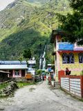 Lodges in Tal village - Nepal Royalty Free Stock Photos
