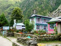 Lodges in Tal village - Nepal Royalty Free Stock Photo
