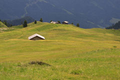 Lodges to 'Alpe di Cisles Stock Photo