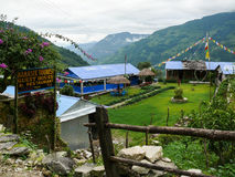 Lodges in Tolka, Nepal Stock Photos