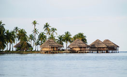 Lodges on the water, San Blas Islands Stock Photography