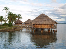 Lodges on the water, San Blas Islands Stock Photos