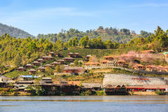 Lodging houses at Ban Rak Thai Stock Photo