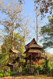 Lodging treehouse at Mae Chaem Royalty Free Stock Photography