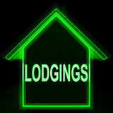 Lodgings Home Means Rooms Accommodation Or Vacancies Royalty Free Stock Photography