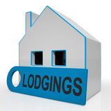 Lodgings House Means Room Or Apartment Available Royalty Free Stock Image