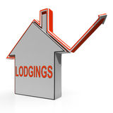 Lodgings House Shows Accommodation Or Residency Vacancy Royalty Free Stock Photos