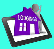 Lodgings House Tablet Means Place To Stay Or Live Royalty Free Stock Photography
