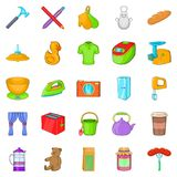 Lodgings icons set, cartoon style Stock Photography