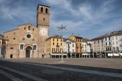 Lodi意大利:大教堂方形的广场del Duomo 免版税库存图片