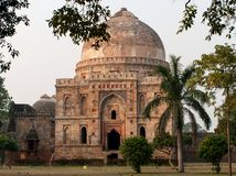 Lodi Gardens. Islamic Tomb Bara Gumbad Royalty Free Stock Photos