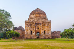 Lodi Gardens. Islamic Tomb (Bara Gumbad) set in landscaped garde royalty free stock images