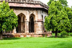 Lodi Gardens. Islamic Tomb Seesh Gumbad and Bara Gumbad Royalty Free Stock Images