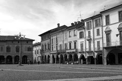 Lodi - Victory square, historical buildings in the center of the town, Lombardy Stock Photography