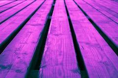 Lodisar för etapp för grov turkos för rosa färgblått purpurfärgad blåaktiga violetta trä Fotografering för Bildbyråer