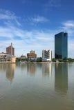 Lodlinje av den Toledo horisonten Royaltyfria Bilder