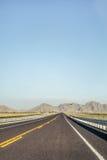 Lodlinje som skjutas av vägen i Coahuila Royaltyfri Fotografi
