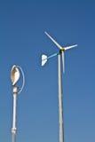 Lodlinjen och det normala lindar turbinen Arkivbild