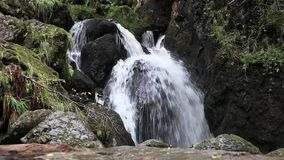 Lodore Falls. A waterfall a short distance from Derwentwater, Cumbria in the English Lake District stock footage