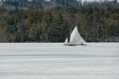 Lodowa łódź Fotografia Stock