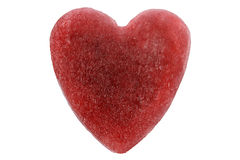 lodowa czerwone serce Obraz Royalty Free