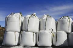 lodowa drogi rzędów worków sól brogował biel obraz royalty free